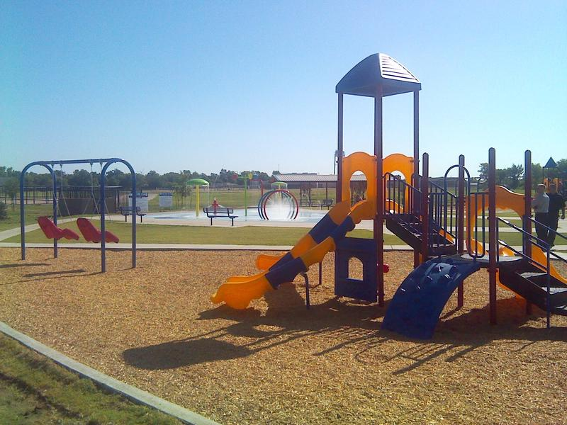 Playground in the community park