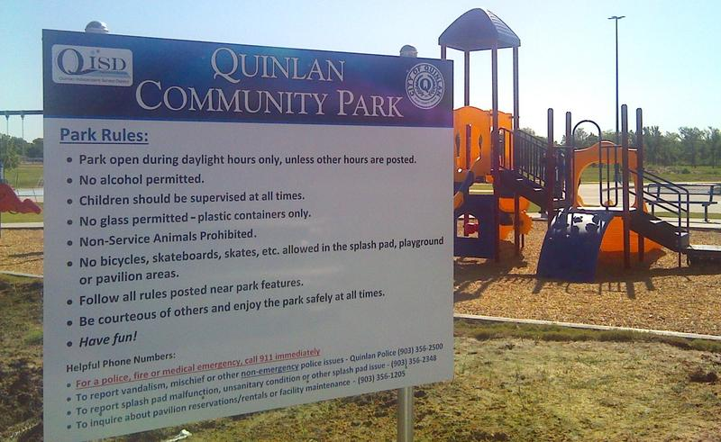 New Quinlan community park