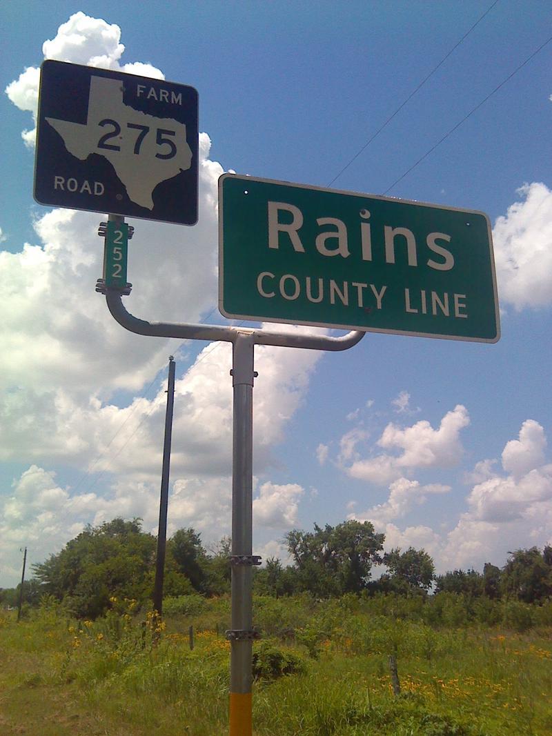 Rains County line