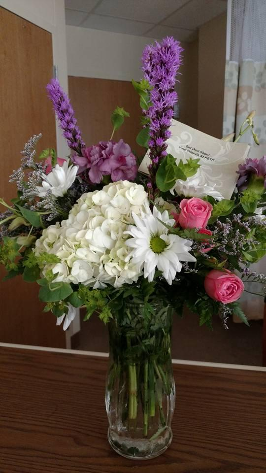 My friends at KETR brightened my day and my stay in the hospital with beautiful floral arrangement.