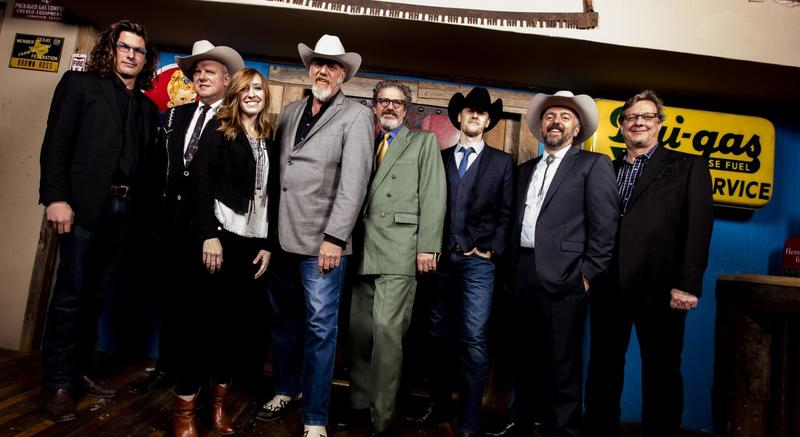 Band founder Ray Benson (Fourth from left) and the current Asleep At The Wheel lineup.
