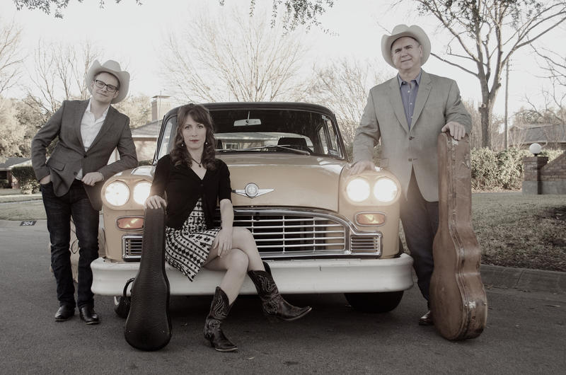(Left to right) Upright bass player Gavin Kelso, fiddle player and vocalist Katie Glassman, and lead singer and rhythm guitarist Joey McKenzie.
