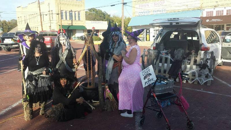 Dancing Witches were a huge hit with the Trunk 'o Treaters on the Square in Cooper last Saturday night.