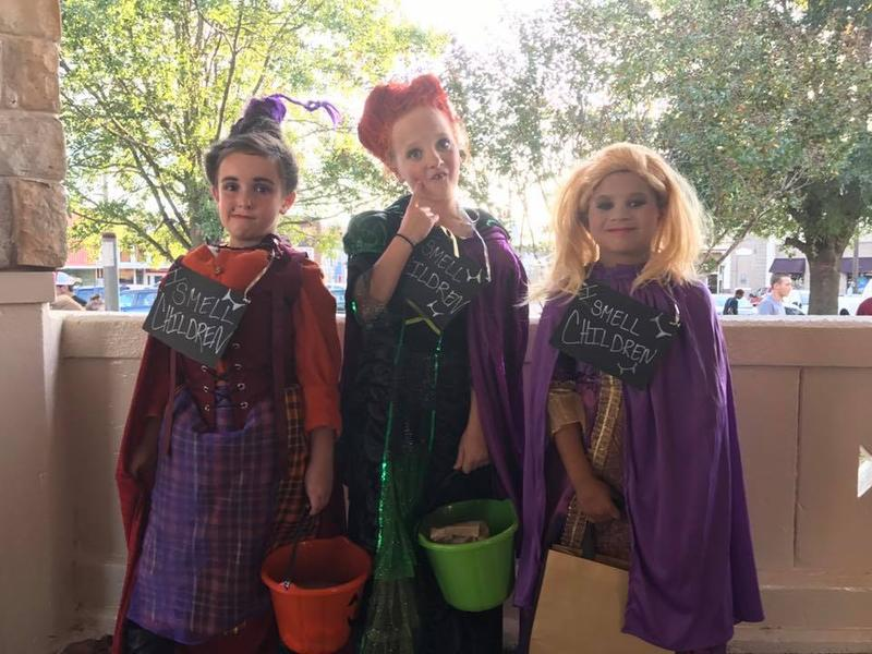 Rayleigh Gillean, Kolie Foster, and Jase Miller as the Sanderson Sisters from Hocus Pocus won Best Costume for 7-10 year olds at the Delta County Chamber of Commerce's Trunk or Treat event last Saturday.