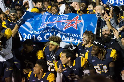 A&M-Commerce clinched its third consecutive Lone Star Conference championship on Nov. 12 with a 30-10 victory over Tarleton State.