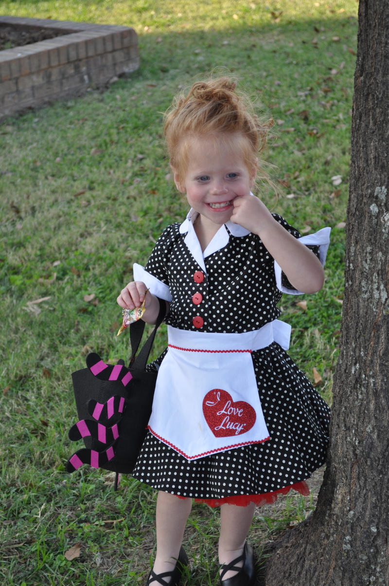 """I Love Lucy"" Lucille Ball Sawyer Nabors is the Winner of under four year olds Costume Contest."