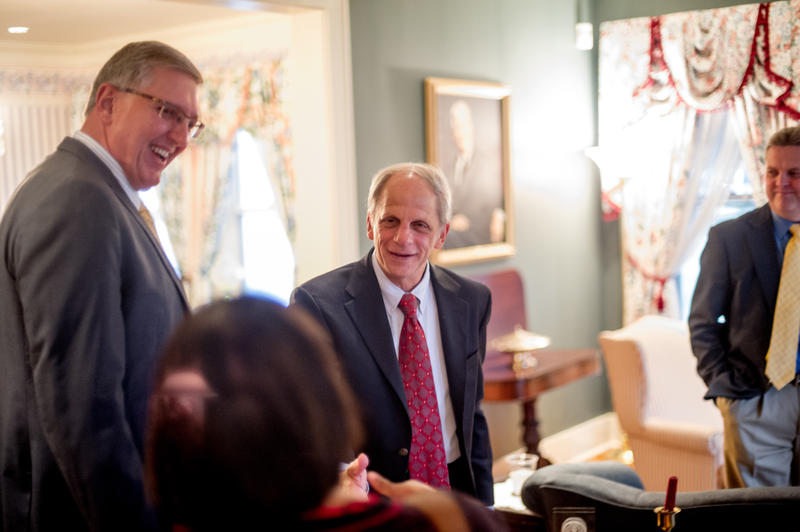 Rubin greeted guests at Heritage House during his visit.