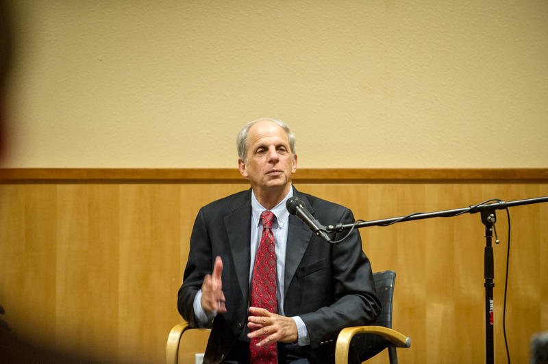 Ed Rubin speaks on the campus of A&M-Commerce.