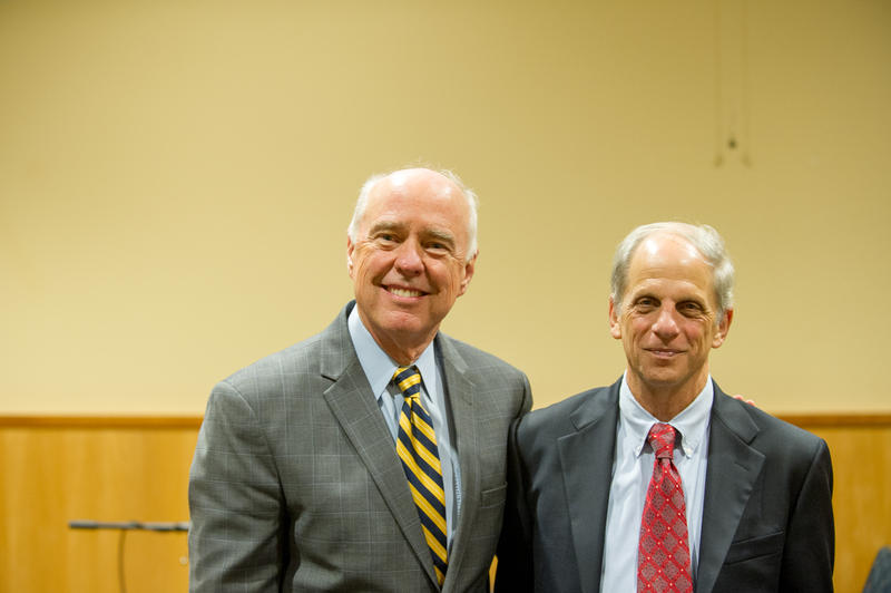 University President Ray Keck and Ed Rubin