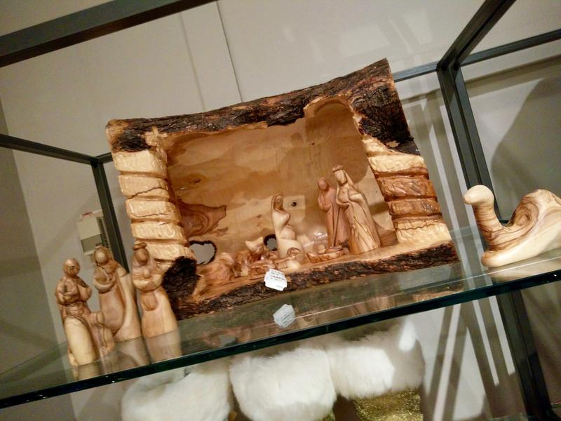 Bethlehem products on display in Neiman's downtown store.
