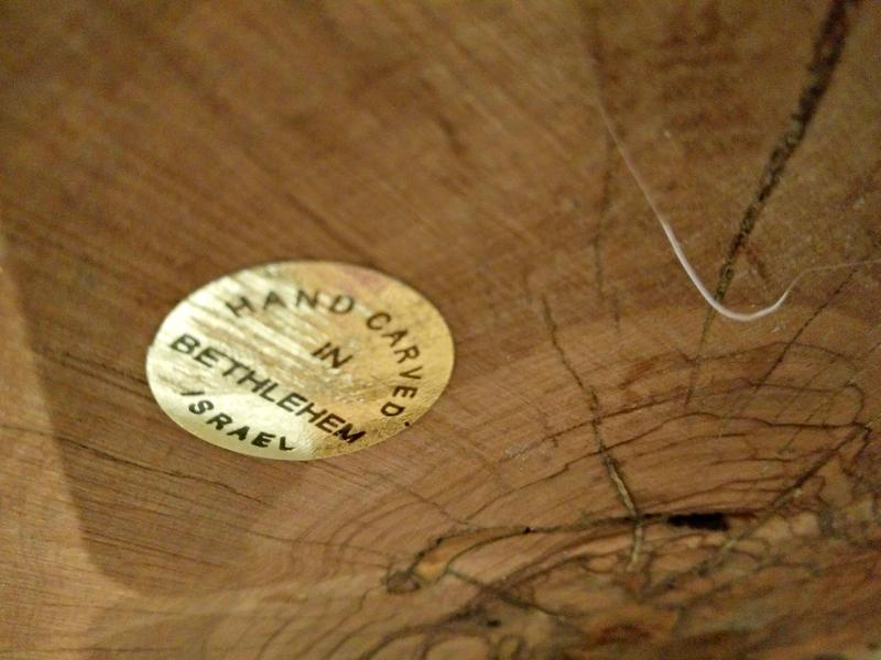 Origin labels affixed to West Bank products in Neiman Marcus stores.
