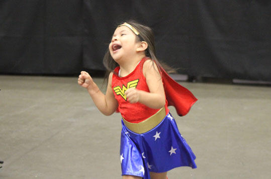 Wonder Girl having fun!