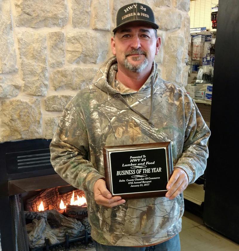 Business of the Year Hwy 24 Lumber & Feed owner Jason Ingram