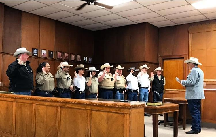Delta County Law Enforcement Officers were sworn in on Jan. 1, 2017 by Sheriff Ricky Smith.