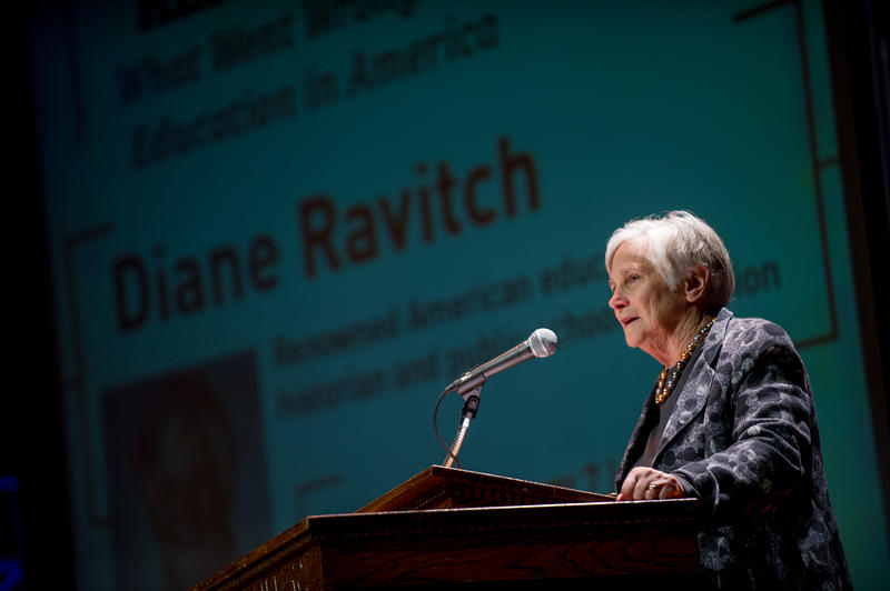 Diane Ravitch at Texas A&M University-Commerce on Feb. 7, 2016.