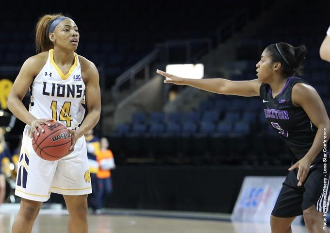 Khala Riley led the Lions with 12 points in their loss to Tarleton State in the first round of the LSC Tournament