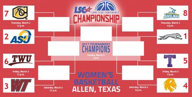 The fourth-seed Lions return to action March 3, as they play in the quarterfinal round and face No. 5 Tarleton State at 6 p.m. at the Allen Events Center.