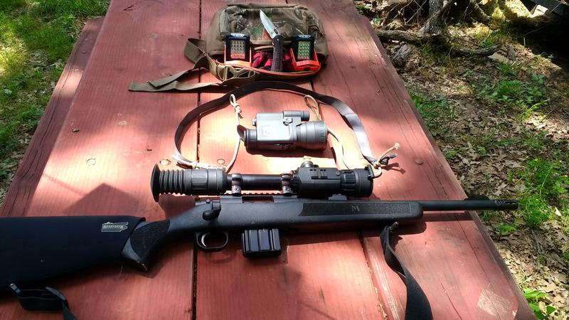 "Gear Luke used for his ""pack in"" backwoods hog hunt."