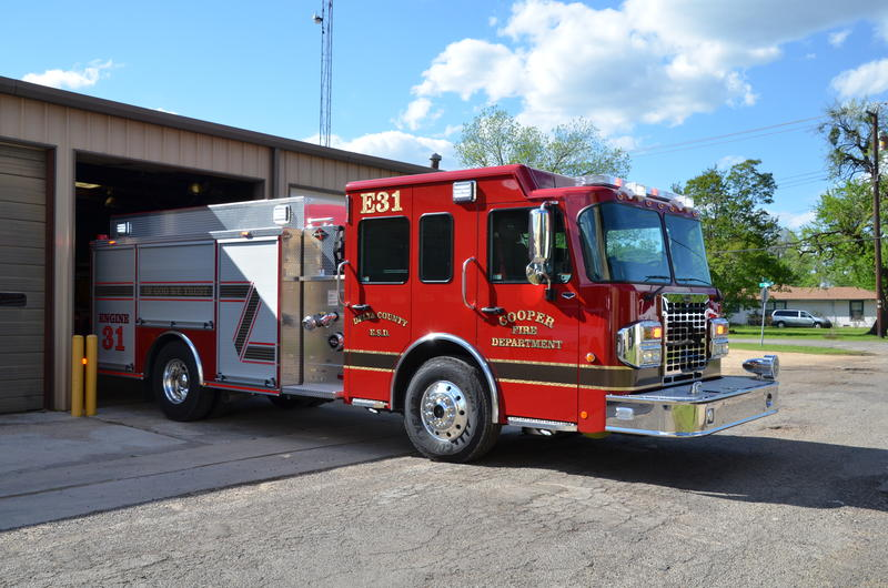 Engine 31 was a welcome sight to volunteer fire fighters.