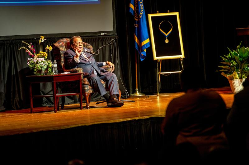 Young's visit was part of the university's Sam Rayburn Speaker Series, which is free and open to the public.
