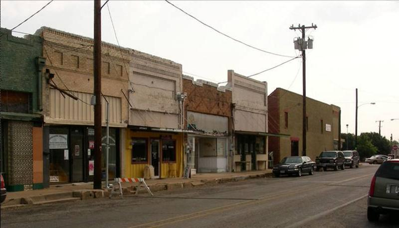 Before the start of renovations to Main Street Sulphur Springs, Texas