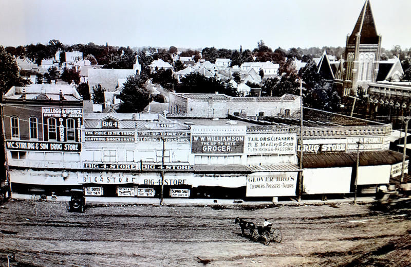 Vintage photo of downtown Sulphur Springs, Texas