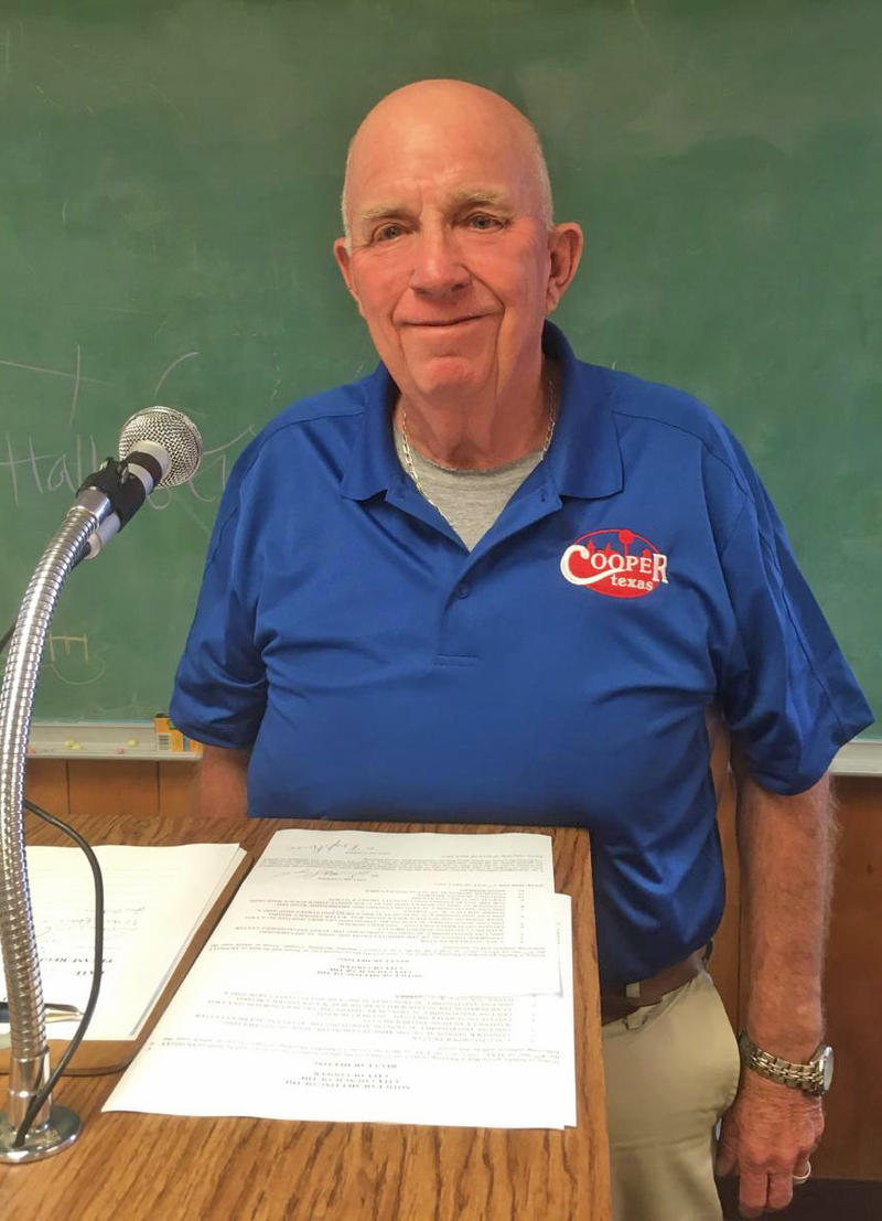 City of Cooper Mayor Scotty Stegall presides over final regular meeting Monday night.