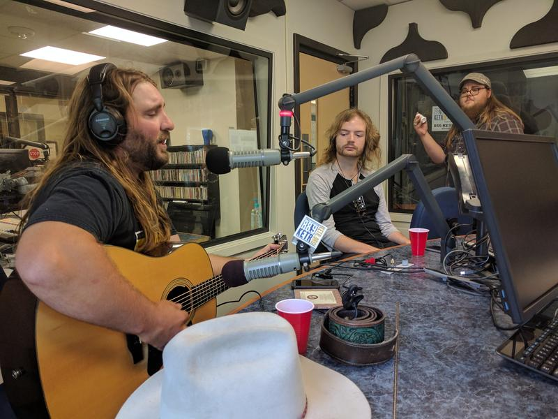 (Left to right) Paul Nipper, Austin Lowrance and Kristopher Schoen performing live at KETR.