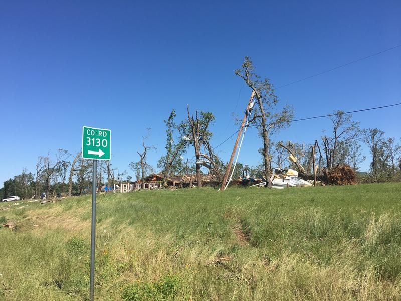 The same tornado that killed four people in Van Zandt County crossed across Rains County on April 29.
