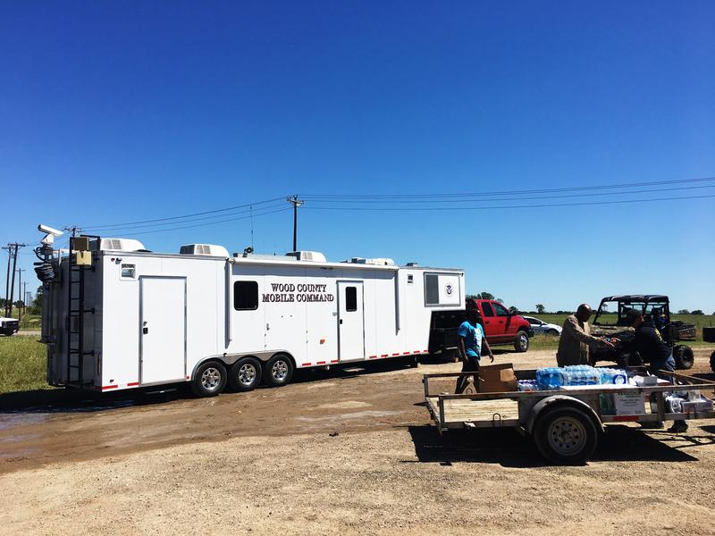 Local officials established a command center east of Emory on U.S. Hwy. 69.