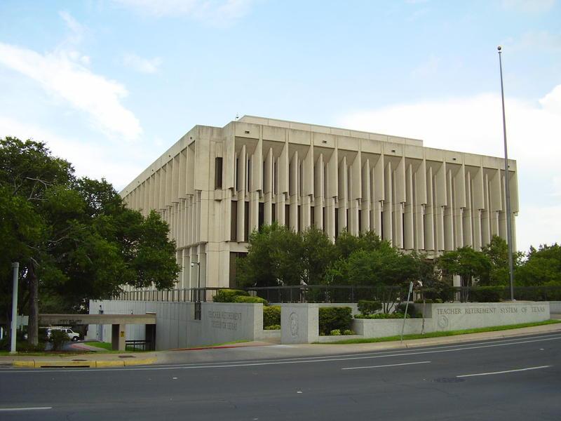 The Teacher Retirement System building in Austin.