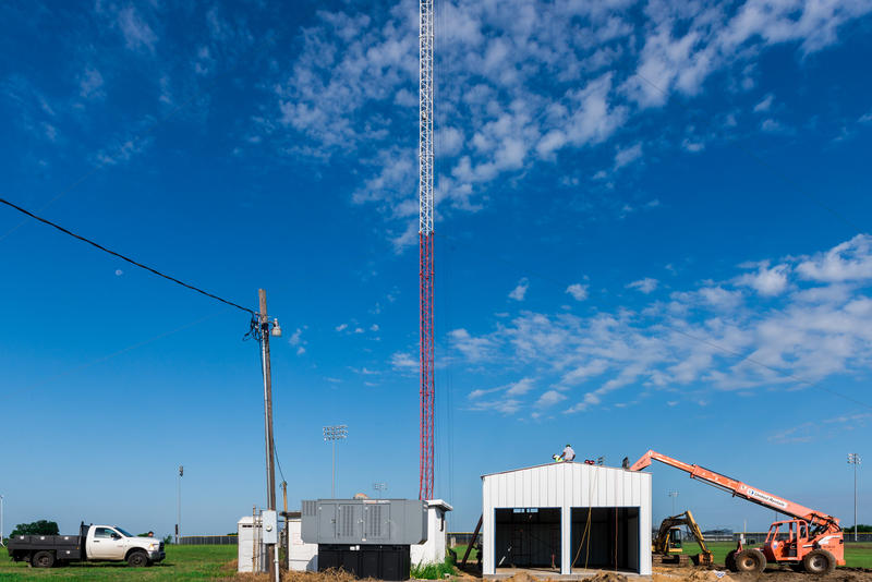 Work continues on KETR's new transmitter building.