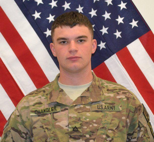 Pfc. Christian J. Chandler, 20, of Trenton, died April 28, 2014, in Baraki Barak District, Logar province, Afghanistan, after his unit was attacked by small arms fire.