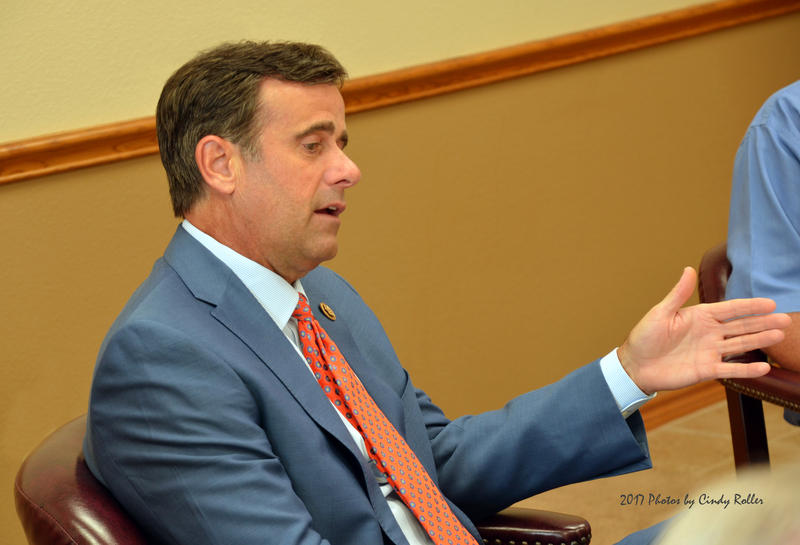 Congressman John Ratcliffe answers inquiries for Delta County officials.