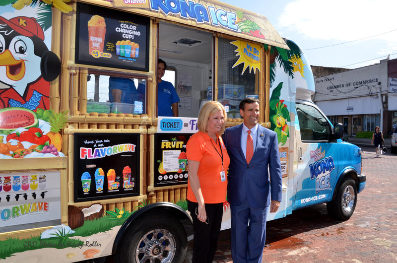 In their annual event, Cooper Community Health Center hosted Kona Ice for free snow cones.