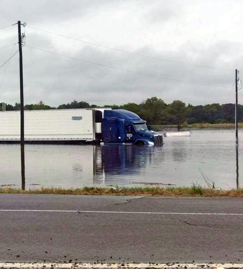 Flooding occurred in Commerce near State Highway 24 S at Highway 50.