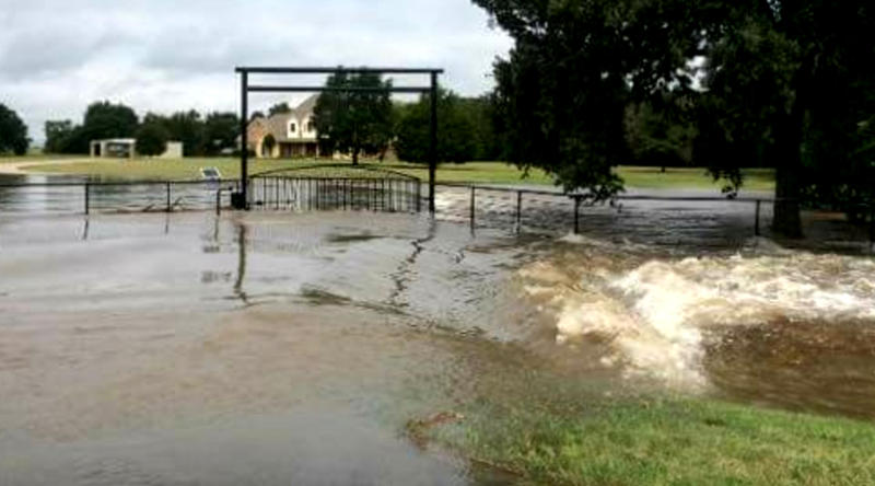 Several homes along State Highway 24 near Commerce were affected by flash flooding with 8-10 inches of rain.