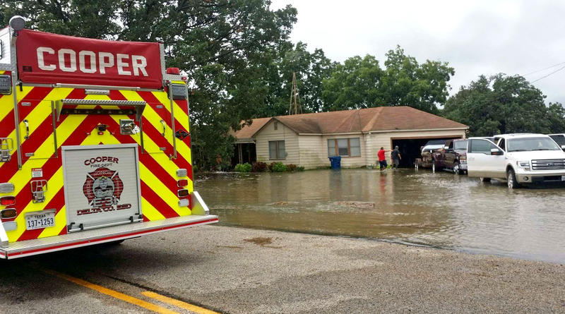 Cooper Volunteer fire fighters were some of the responders to assist residents in an evacuation due to flooding on FM 1531.