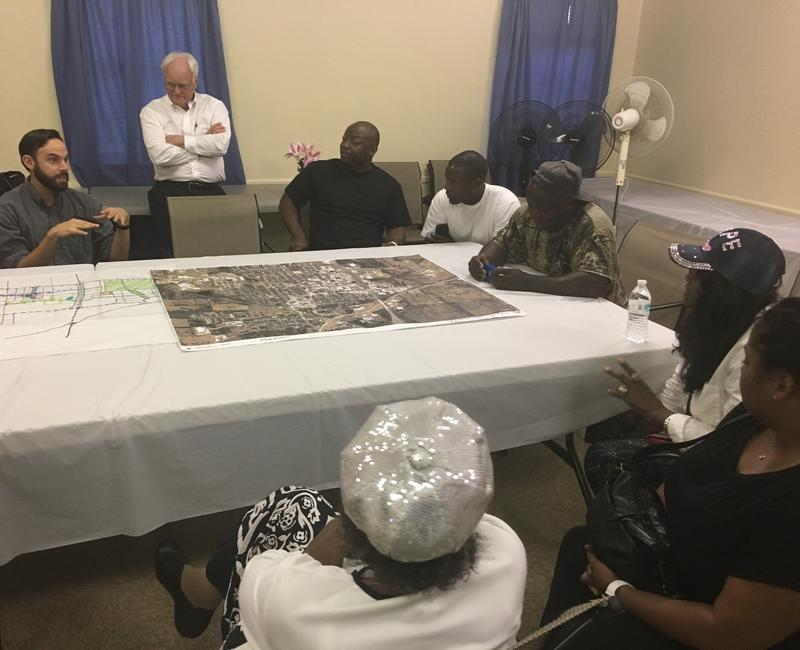 Members of the Norris Community hosted an Aug. 8 meeting where residents spoke with city officials and planners about revitalization plans for Commerce.