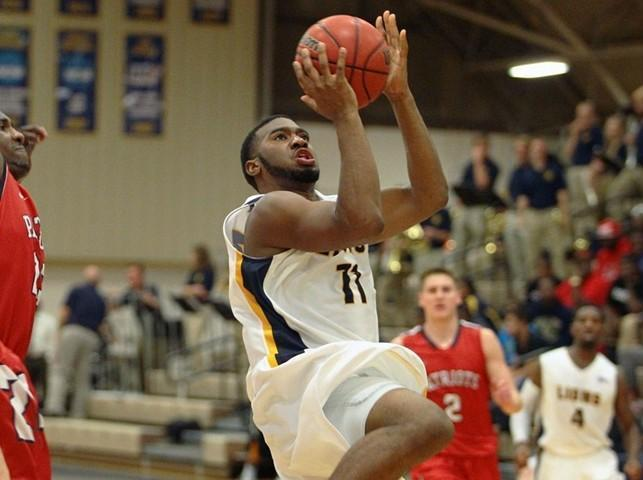 A&M-Commerce's Kameron Price shoots during a game against Dallas Baptist University in 2013.