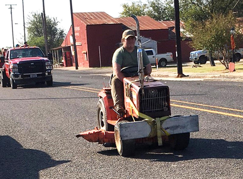 Some unusual vehicles also were in the Pecan Fest parade.