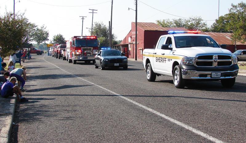 Local law enforcement led the Pecan Fest parade.