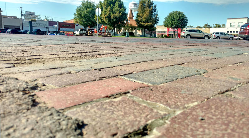 The bricks on the Square in Cooper remain a topic of discussion.