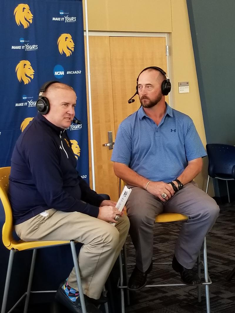 Tim McMurray discusses the NCAA Playoffs with head football coach Colby Carthel.