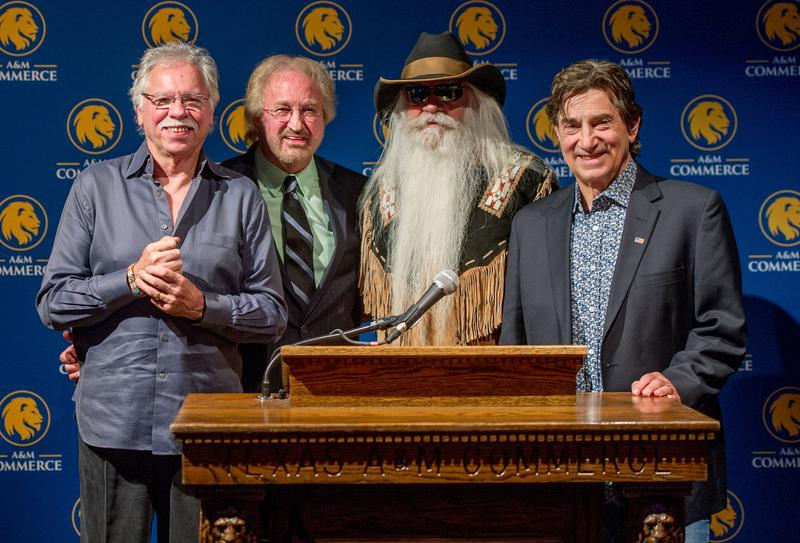 The Oak Ridge Boys at Texas A&M University-Commerce (Left to Right) Joe Bonsall, ETSU Alumni Duane Allen, William Lee Golden and Richard Sterban.