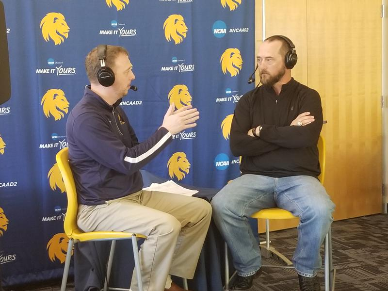 Josh Manck talks about the National Championship game for the Lions with head football coach Colby Carthel.