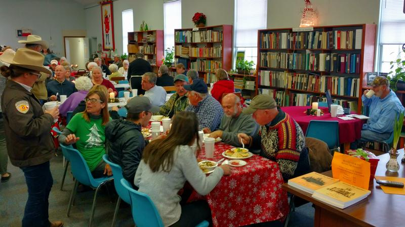 Lunch at the Delta County Public Library always draws a crowd just like this one on Thursday, Dec. 7.