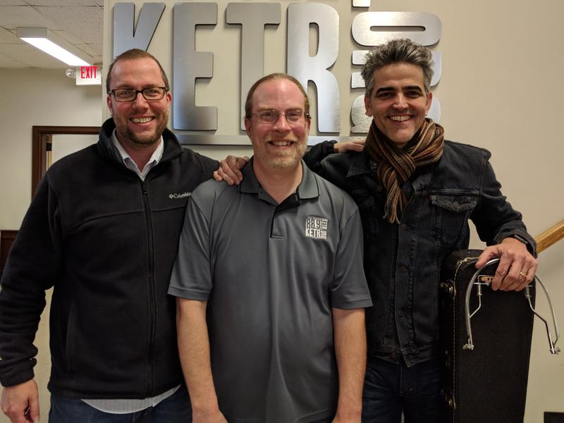 (Left to right) Terry Klein, Matt Meinke and Jordi Baizan outside the KETR Studios.