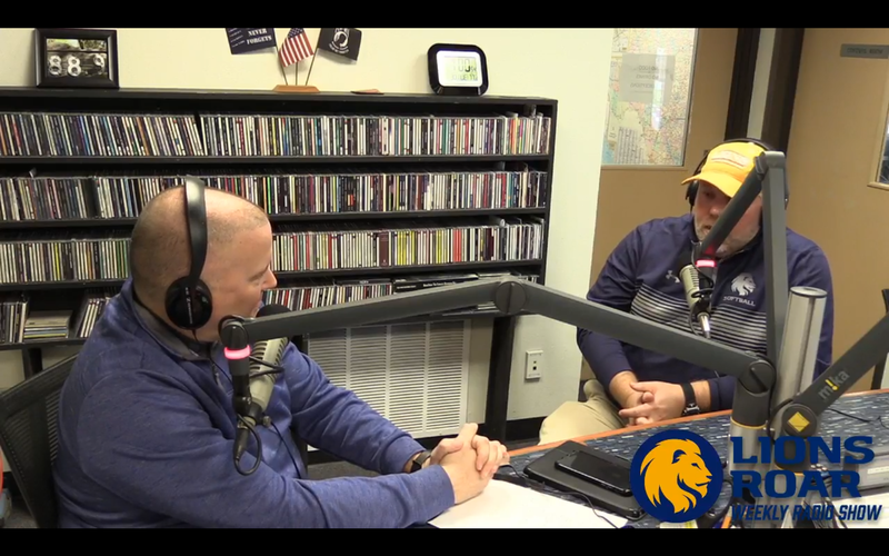 Tim McMurray gets a preview of the Lions softball season with head coach Richie Bruister.