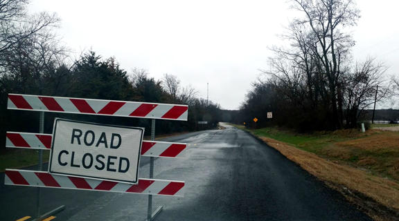 Farm-to-Market Road 1529 (Country Club Road) in Delta County has been closed due to flood waters.